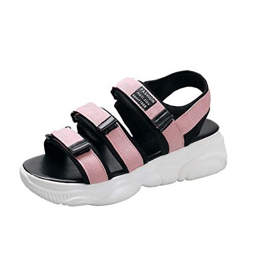 UINGKID Sandalen Damen Sommer-Frauen- -Sport-Nulloffener Zehen-Buchstabe flach mit - Kelly Schuhe Kostüm