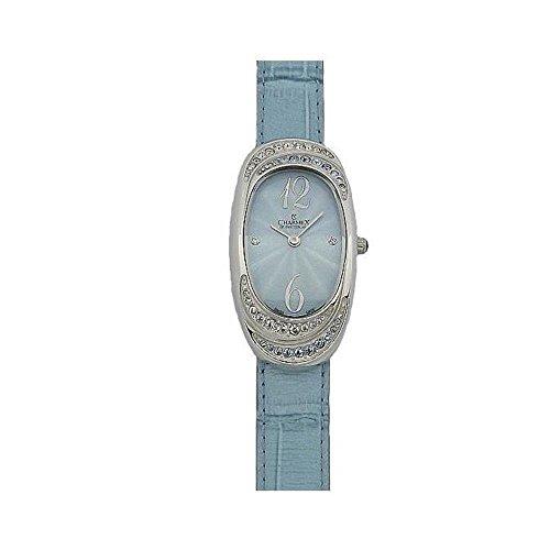 Charmex L's Strap Watch Women's 47mm Blue Calfskin Synthetic Sapphire Watch 5788