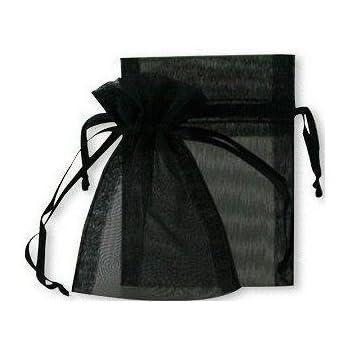Fliyeong 30 Pcs Organza Cadeau Sacs Bijoux Cordon Pochettes Wrap Pochettes De Noce Faveur Sacs De Bonbons Noir
