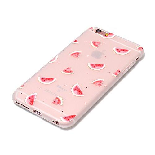Cover iPhone 6S, Voguecase Custodia Silicone Morbido Flessibile TPU Custodia Case Cover Protettivo Skin Caso Per Apple iPhone 6/6S 4.7(Caramella Silicone-sunny day) Con Stilo Penna Macchia-Anguria 06