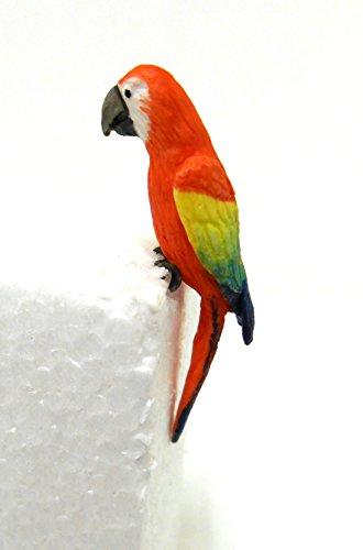 Preisvergleich Produktbild Puppenhaus 1:12 Maßstab Falcon Miniature Garten Voliere Vogel Grün Flügel Ara