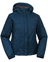 Jack Wolfskin Mujeres Chaquetón Impermeable Mount Moran Chaqueta Mujer - Azul De Noche, S