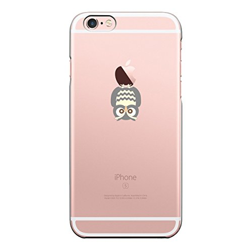 Caler iPhone 6S/6 Hülle Weiche Flexible Silikon-Handy-Hülle Transparente Ultra Slim TPU dünne(Eule)
