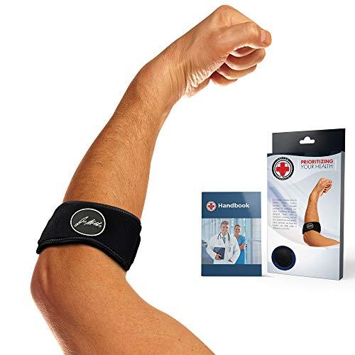 Von Ärzten entwickelte Ellbogenstütze /Gurt / Bandage mit von Ärzten verfasstem Rehabilitationshandbuch