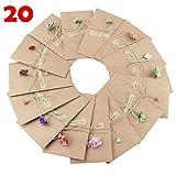 Tomkity 20 pezzi Buste Cartoncini Augurali con Busta per Diverse Occasioni Auguri di Matrimonio, Compleanno, Inviti Lettera, Natale (20 pezzi)