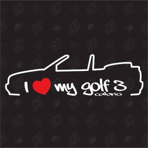 speedwerk-motorwear I Love My Golf 3 Cabrio - Sticker für VW - Bj. 1998-2002