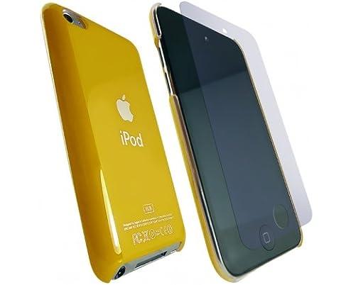 Media Products UK Apple Ipod Touch 4 Yellow Hard Back Logo Case