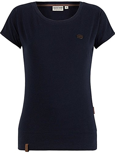 Naketano Pflaumen und Bananen W T-shirt Blu scuro