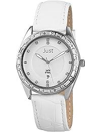 Just Watches Damen-Armbanduhr Analog Quarz Leder 48-S8262A-SL-WH