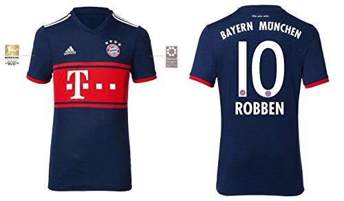 Trikot Kinder FC Bayern 2017-2018 Away BL - Robben 10 (140) (Holland Trikot Away)