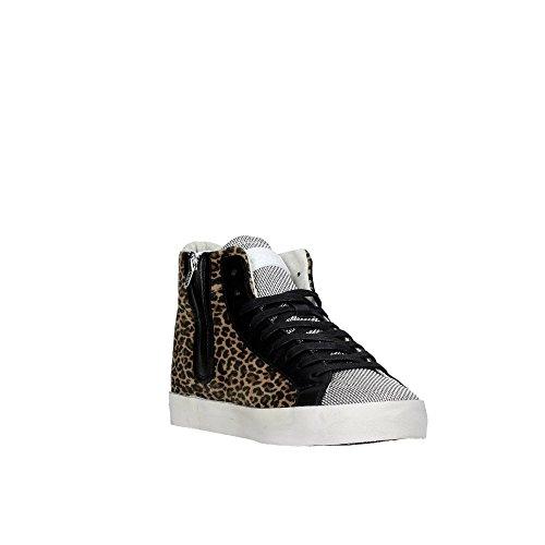D.a.t.e. HILL HIGH-23 Sneakers Donna LEOPARDATO