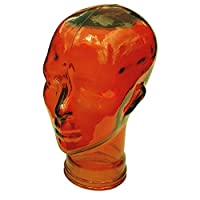 AMP3 Luxury Glass Head Headphones Stand Colour ORANGE