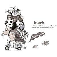 Suyun02 Etiqueta de la Pared Animal Friends Habitación Individual para niños Puerta, Pasillo, Esquina