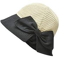 Sombra Sombrero Cuenca del Nuevo Verano de Las señoras al Aire Libre del Nudo del Arco Hueco Protector Solar Sombrero de la Playa del Sombrero del Sol del Sombrero del Pescador Sombrero de Paja niña