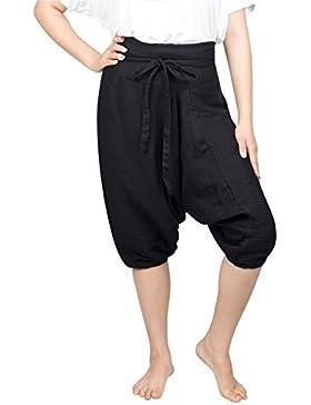 Pantalones de harén de yoga con cordón en algodón para mujer de Lofbaz