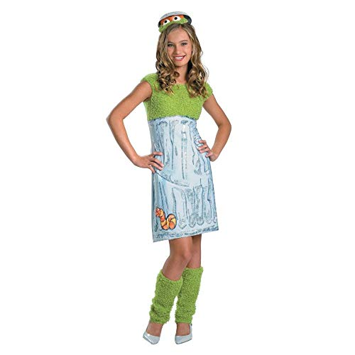 Erwachsene Oscar Kostüm Für - Sesame Street Oscar The Grouch Dress Costume Teen 10-12