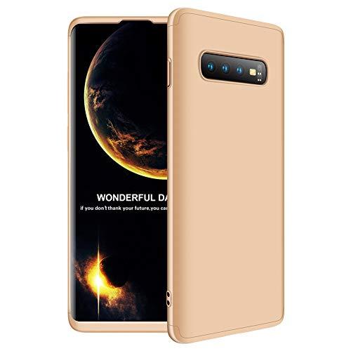 Hülle Kompatibel Samsung Galaxy S10 3 in 1 Handyhülle Ultra Dünn Hardcase 360 Full Body Anti-Kratzer Hart PC Skin Glatte Rückseite Bumper Schutz Schutzhülle für Samsung Galaxy S10 ()