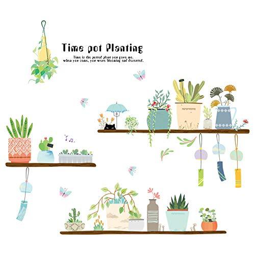 Frische Blumentopf Wandaufkleber Blumentopf Dekoration Diy Vinyl Home Decor Garten Wandtattoos Für Schlafzimmer Wohnzimmer Sofa