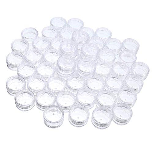 50 Stück Leere Kosmetik Behälter Reise Gesichtscreme Behälter Flasche Nagel Kunst Döschen, 5 g (klar)