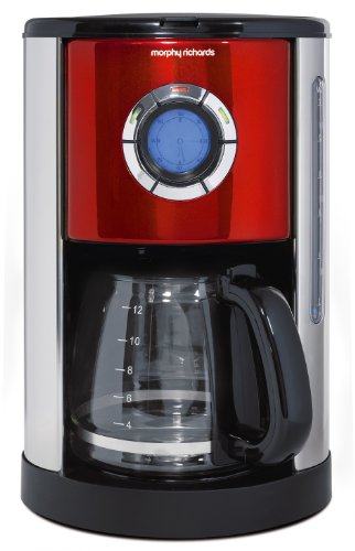 Morphy Richards 47094 Filterkaffeemaschine Accents 12 Tassen 1000 Watt, rot thumbnail