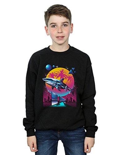 Shark Kinder Sweatshirt (Absolute Cult Vincent Trinidad Jungen Rad Shark Sweatshirt Schwarz 9-11 Years)