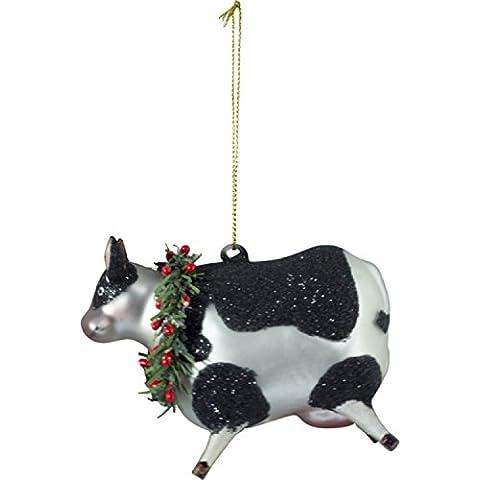 Long Island Living-Lil ,  Albero di Natale-ciondolo 'mucca' 10 cm ,  Nero Argento - Lil Mucca Mucca