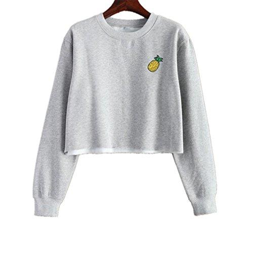 Abstand!!! Refulgence 2017 frauen mode - ananas - print - pullover sweatshirt (S, (2017 Kostüme Sevens)