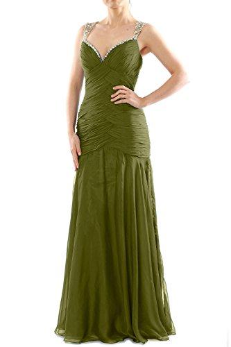 MACloth - Robe - Moulante - Sans Manche - Femme Vert - Oliver Green