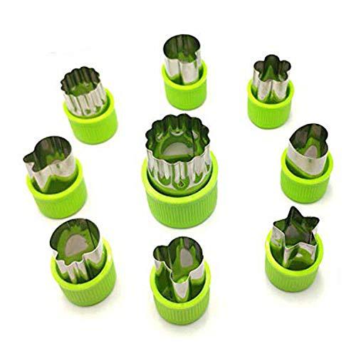 Nifogo Plätzchen Ausstecher, Ausstechformen, 9 Stück Edelstahl Keksausstecher, Torten Deko, Fondant Ausstecher Backzubehör für Kuchen Plätzchen Gemüse Obst