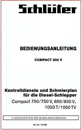 Schlüter   Bedienungsanleitung   Compact-Serie   Kontroll- und Schmierplan