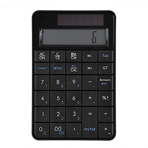VBESTLIFE Mini 2.4G USB Wireless 2 In 1 29 Tasten numerische Tastatur,Tastatur & Taschenrechner mit LCD Display für Büro,kompatibel mit Windows XP/Vista / 7/8/10, Mac OS 10.3.9 und höher. 2.4 G Wireless-lcd
