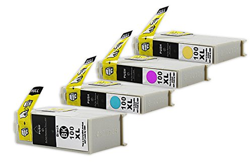 Alternativ zu Lexmark 100 XL Tinten Spar-Set (BK.C.M.Y) 4 Stück (m. Chip) für Lexmark Platinum Pro 900 Series -