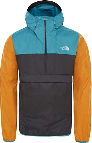 THE NORTH FACE Fanorak Kapuzenjacke Herren anthrazit/gelb, L