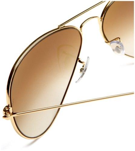 Aviator Sunglasses Gold Frame Crystal Blue Lens : Ray Ban Rb3025 Gold Frame Brown Lens