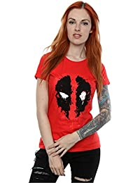Marvel Women's Deadpool Splat Face T-Shirt