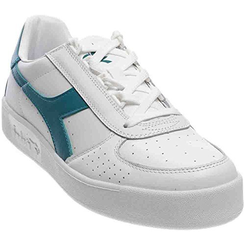 Diadora501.170595 - Scarpe Basse Unisex – Adulto, Bianco (White/Harbor Blue), 40 EU