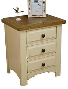 peinture ch ne massif table de chevet 3 tiroirs table de. Black Bedroom Furniture Sets. Home Design Ideas