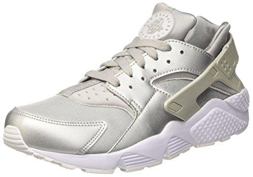 Nike Herren Air Huarache Run Premium Sneaker, Silber metallic Silver-Pure Platinum White, 42.5 EU