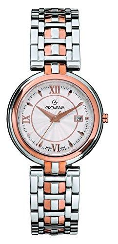 GROVANA - 5097.1152 - Montre Mixte - Quartz Analogique - Bracelet Acier Inoxydable Bicolore
