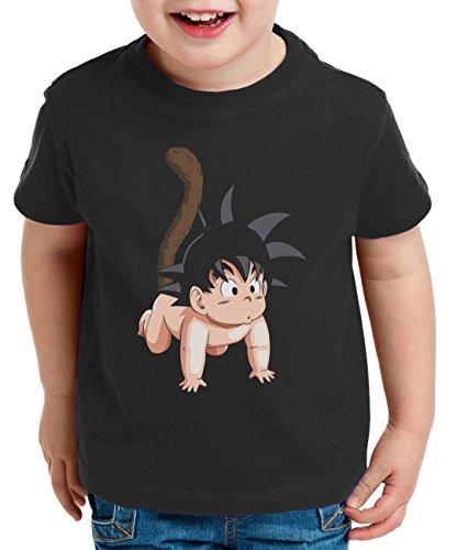 Son Baby Kinder T-Shirt Goku Dragon Master Ball Vegeta Turtle Roshi Db, Farbe:Schwarz;Kinder T-Shirt Größe:98/104
