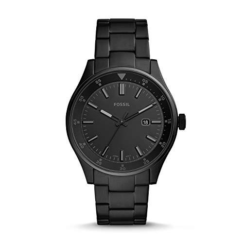 Fossil Herren Analog Quarz Uhr mit Edelstahl Armband FS5531
