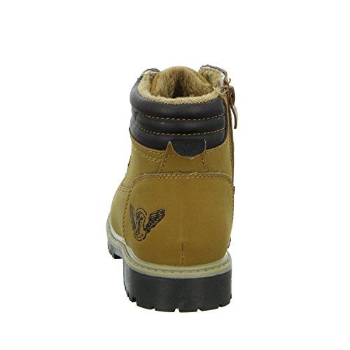 Sneakers 6206-18 Jungen Schnürstiefelette Warmfutter Braun (Braun)