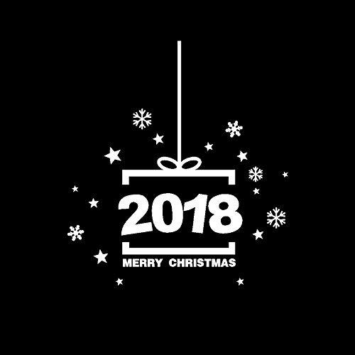 Yallylunn 2018 Happy New Year Merry Christmas Wall Sticker Home Shop Windows Decals DéCor Dekoration Sticker Bringen Sie Farbe Und Leben In Ihr Zimmer