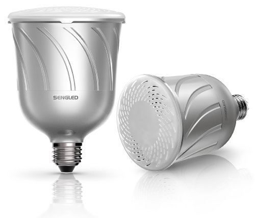 Sengled Pulse Pair E27 Lampadina LED e Altoparlante Bluetooth JBL, Argento