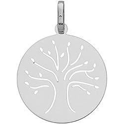 So Chic Bijoux © Médaille Baptême Républicain Arbre Or Blanc 750/000 (18 carats)