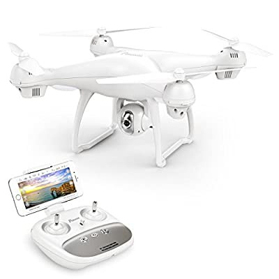 GPS Drone, Potensic T35 GPS 1080P HD WiFi Camcorder FPV RC Drone 2.4Ghz Remote Control Quadcopter with Wide-Angle Function-Adjustable Camera Follow Me Suspension Altitude Hold Headless Mode Function and Long Control Range from Potensic