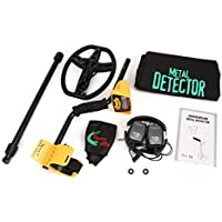 MD6350 Professional Underground Metal Detector Handheld Treasure Hunter Gold Digger Finder with Headphone LCD Display