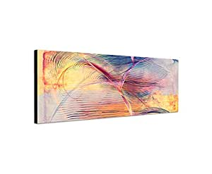 abstraktes bild auf leinwand bunte linien abstrakt146 dekoratives panoramabild wandbild. Black Bedroom Furniture Sets. Home Design Ideas