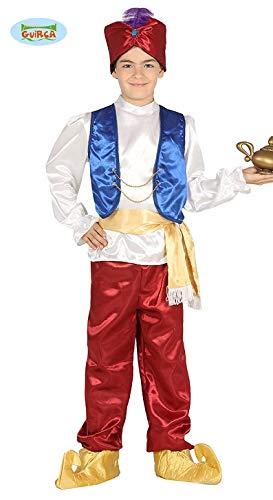 Guirca Costume vestito Aladino principe arabo carnevale bambino 8751_ 7-9 anni
