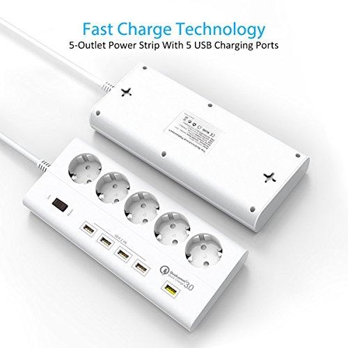Steckdosenleiste, ELEGIANT USB Steckerleiste Mehrfachsteckdosen